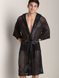 Tulio Shotgun Mesh Robe Black