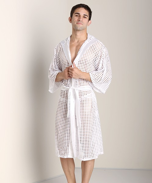 Tulio Shotgun Mesh Robe White