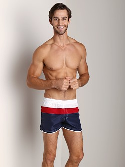 Tulio Active Triple Color Short Navy