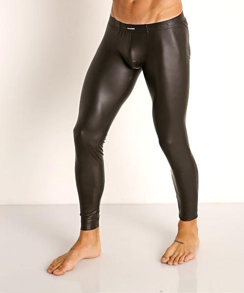 Manstore Matte Latex-Look Tights Black
