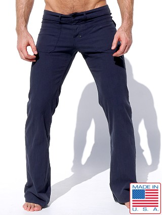 Model in twilight Rufskin Ranger Stretch Cotton Twill Flare-Leg Pants