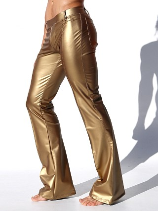 Complete the look: Rufskin Roncho Limited Edition Rubberized Flare-Leg Pants Gold