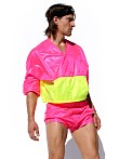 Rufskin Bulle Nylon Rip-Stop Sport Top Pink AF, view 2