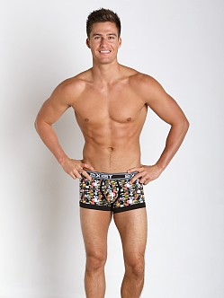 2xist Floral Print No-Show Trunk Black