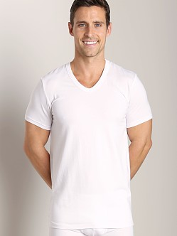 Wood V-Neck Tee White