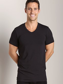 Wood V-Neck Tee Black