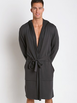 Gregg Homme Liberty Bamboo Cotton Robe Charcoal