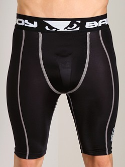 Bad Boy Compression Shorts with Hard Cup Black