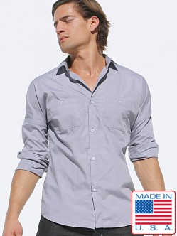 Rufskin Tashi Sleeve Button Down Fitted Shirt
