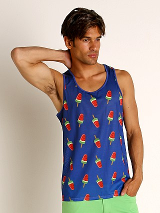 You may also like: St33le Navy Watermelon Stretch Mesh Tank Top