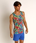 St33le Rainbow Graffiti Stretch Mesh Tank Top, view 2