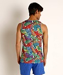 St33le Rainbow Graffiti Stretch Mesh Tank Top, view 4