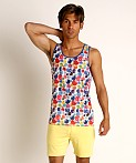 St33le Rainbow Smiley Stretch Mesh Tank Top, view 2