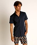 St33le Stretch Jersey Knit Short Sleeve Shirt Navy, view 2