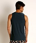 St33le Engineered Stripes Stretch Performance Tank Top Blue/Blac, view 4