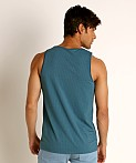 St33le Perforated Mesh Performance Tank Top Petrol, view 4