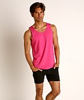 St33le Perforated Mesh Performance Tank Top Fuchsia, view 1