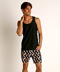 St33le Honeycomb Air Mesh Performance Tank Top Black, view 1