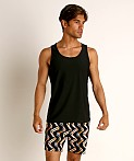 St33le Honeycomb Air Mesh Performance Tank Top Black, view 2