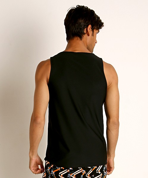 St33le Honeycomb Air Mesh Performance Tank Top Black