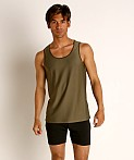 St33le Honeycomb Air Mesh Performance Tank Top Olive, view 2