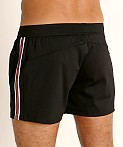 St33le Embossed Racing Stripe Gym Shorts Black, view 4