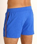 St33le Embossed Racing Stripe Gym Shorts Cobalt, view 4