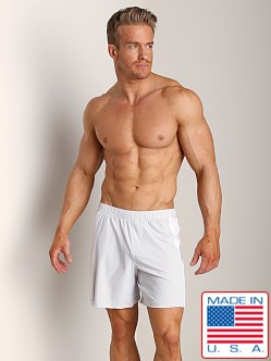 Sauvage Nylon Lycra Workout Short Stone/White