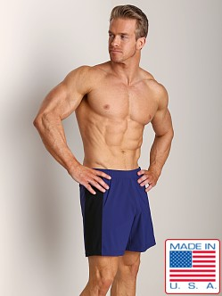 Sauvage Nylon Lycra Workout Short Navy/Black