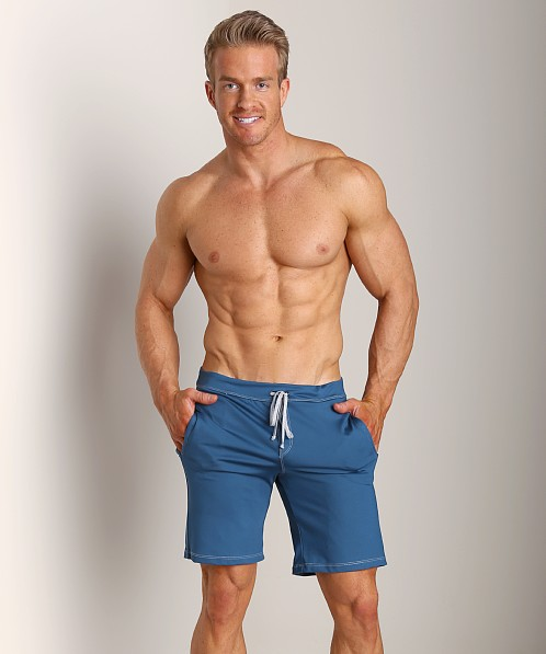 Sauvage Low Rise Nylon/Lycra Workout Short Teal