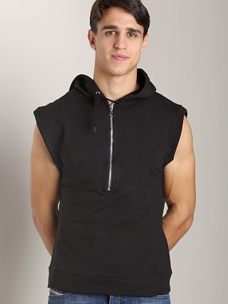 Complete the look: Sauvage Sleeveless Mesh Side Zipper Hoodie Black