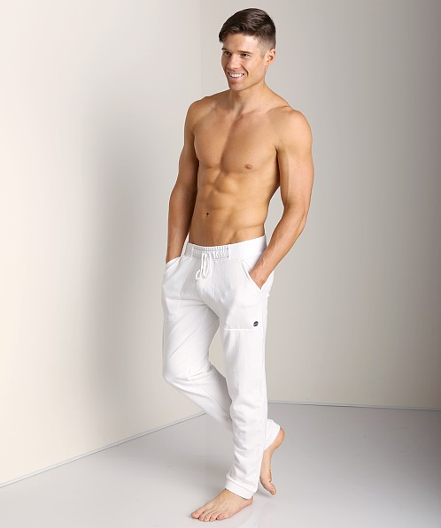 Sauvage French Terry Sweat Pants White
