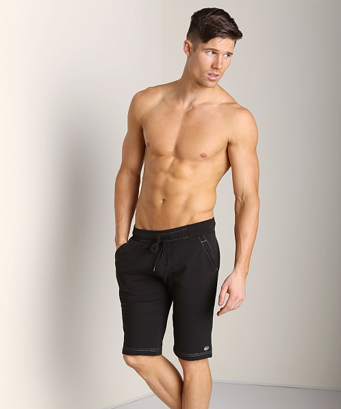 Sauvage French Terry Sweat Shorts Black