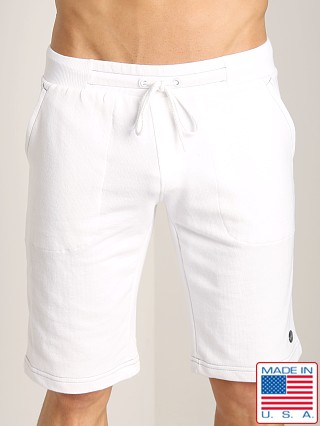 Sauvage French Terry Sweat Shorts White