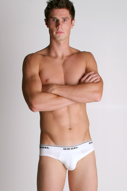 Diesel Cotton Stretch Kinkol Brief White