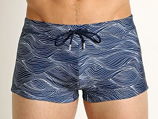 2xist Wave Cabo Swim Trunk White/Varsity Navy