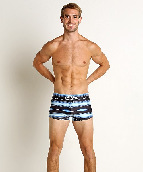 2xist Fiesta Stripe Cabo Swim Trunk Black