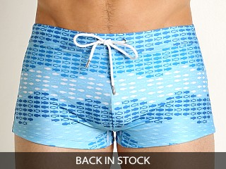 2xist Wavy Fish Cabo Swim Trunk Baltic Sea