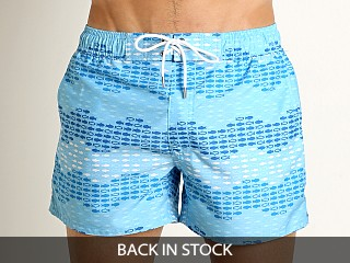 2xist Wavy Fish Ibiza Swim Shorts Baltic Sea