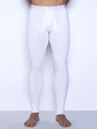 Model in white C-IN2 Core Long Johns