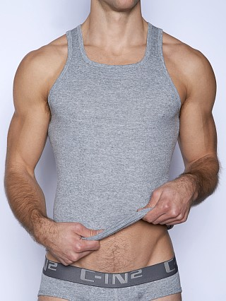 C-IN2 Core Square Neck Tank Top Grey Heather