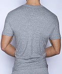 C-IN2 Core Deep V-Neck Shirt Grey Heather, view 2