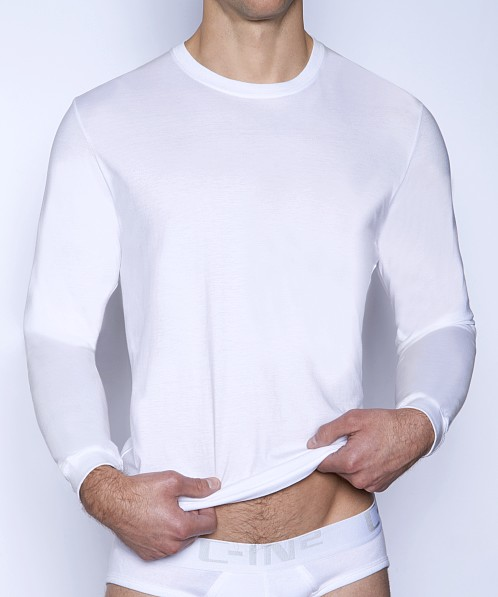 C-IN2 Core Long Sleeve Crew Neck Shirt White