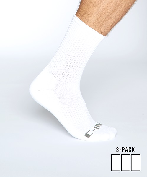 C-IN2 Core Crew Socks 3-Pack White