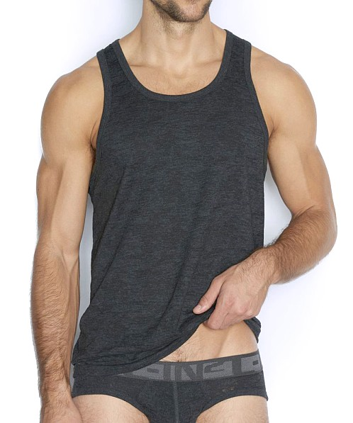 C-IN2 Hand Me Down Relaxed Tank Top Coal Heather