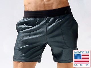 Model in midnight Rufskin Stellar Centaurus Shorts