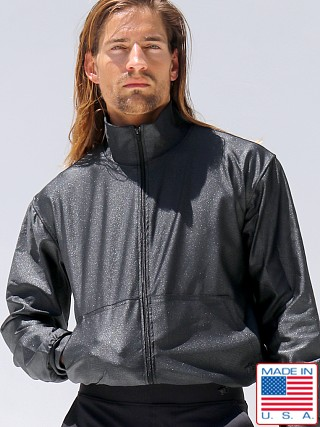 Model in black Rufskin Stellar Scorpius Jacket