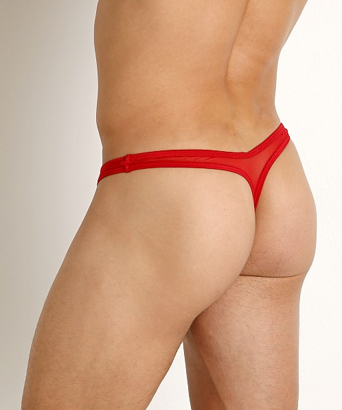 Rick Majors Sheer Mesh Thong Red