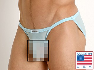 Model in baby blue Rick Majors Sheer Mesh Sports Brief