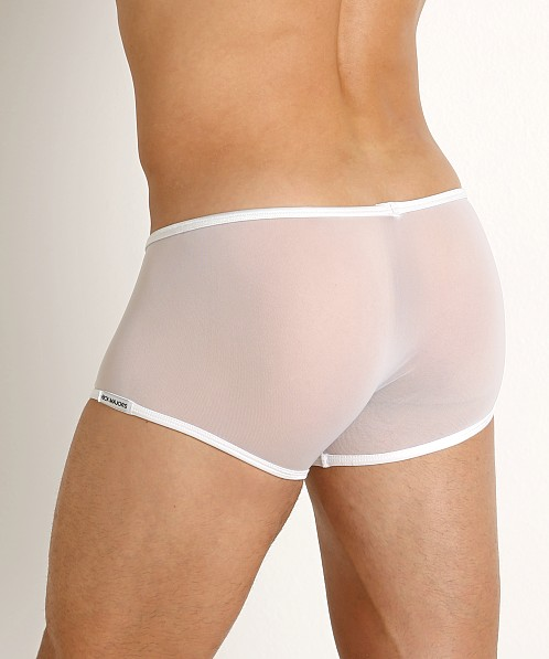 Rick Majors Sheer Mesh Trunk White